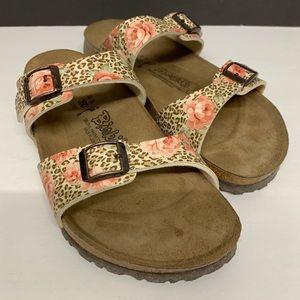 Birki's by Birkenstock leopard and floral sandals